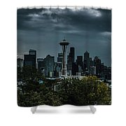 Seattle Skyline - Dramatic Shower Curtain