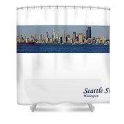 Seattle Skyline From Alki Shower Curtain