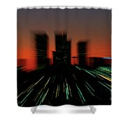 Seattle Skyline Motion Shower Curtain