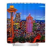 Seattle Space Needle 5 Shower Curtain