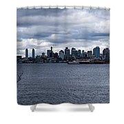 Seattle Sun Breaks Shower Curtain