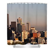 Seattle Sunset Panorama Shower Curtain