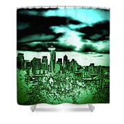 Seattle - The Emerald City Shower Curtain