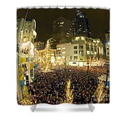 Seattle Westlake Tree Lighting Shower Curtain