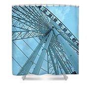 Seattle Wheel Shower Curtain
