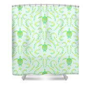 Seaturtlepattern3 Shower Curtain