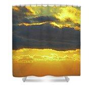 Seaview Sunset 3 Shower Curtain