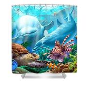 Seavilians Shower Curtain by Jerry LoFaro