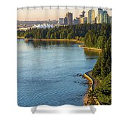 Seawall Along Stanley Park In Vancouver Bc Shower Curtain