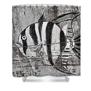 Seawall Art Shower Curtain