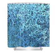 Seawater Froth Shower Curtain