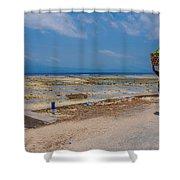 Seaweed Farmer Shower Curtain