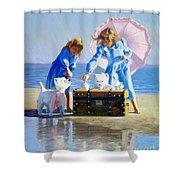 Seaweed Tea Shower Curtain