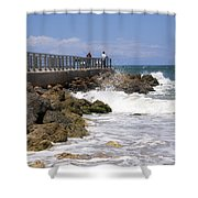 Sebastian Inlet In Florida Shower Curtain