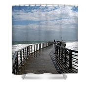 Sebastian Inlet On The Atlantic Coast Of Florida Shower Curtain