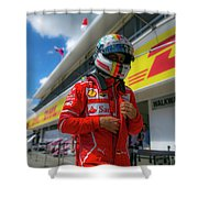Sebastian Vettel Ferrari  Shower Curtain