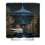 Secluded Condo On The Water Shower Curtain
