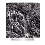 Secluded Falls - Bw Shower Curtain