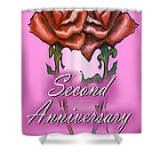 Second Anniversary Shower Curtain