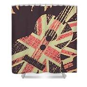 Second British Invasion Shower Curtain