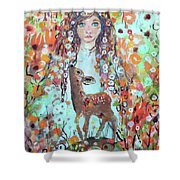 Second Chakra  Angel A Supernova Who Grew Up To Be Stardust Shower Curtain