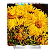 Flowers - Second Life Shower Curtain