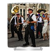 Second Line Wedding On Bourbon Street New Orleans Shower Curtain