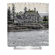 Second Story View Shower Curtain