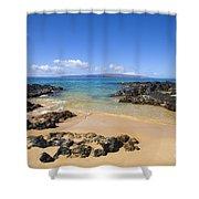 Secret Beach Of Kahoolawe And Molokini Shower Curtain