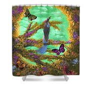 Secret Butterfly Garden Shower Curtain