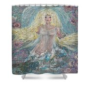 Secret Garden Angel 3 Shower Curtain
