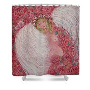 Secret Garden Angel 6 Shower Curtain