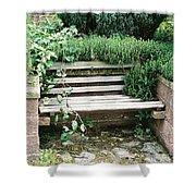 Secret Garden Bench Shower Curtain