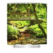 Secret Garden Bridge Shower Curtain