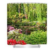 Secret Garden Pond Shower Curtain