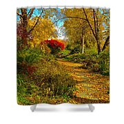 Secret Path Fall Perfection  Shower Curtain