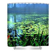 Secret Quiet Pond Shower Curtain