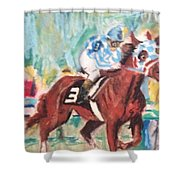 Secretariat 1973 Shower Curtain