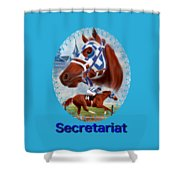 Secretariat Racehorse Portrait Shower Curtain