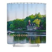 Sedgeley Club - Boathouse Row Shower Curtain