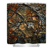 Sedimentary Abstract Shower Curtain
