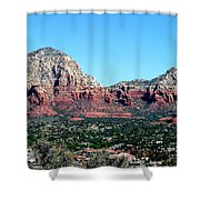 Sedona Arizona City Scape Shower Curtain