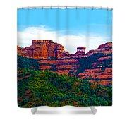 Sedona Arizona Red Rock Shower Curtain by Jill Reger