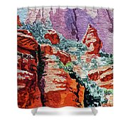 Sedona Arizona Rocky Canyon Shower Curtain
