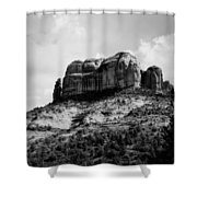 Sedona In Black And White Shower Curtain