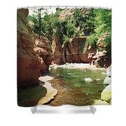 Sedona River Rock Oak Creek Shower Curtain