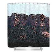 Sedona Rock Formation Shower Curtain
