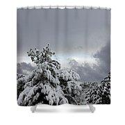 Sedona Skyline In Winter Shower Curtain