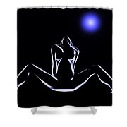 Seduction In The Moonlight Shower Curtain