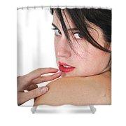 Seductive Woman Shower Curtain